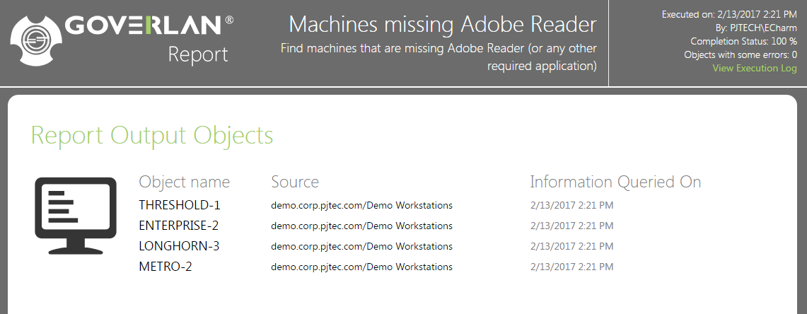 Machines that are missing Adobe Reader