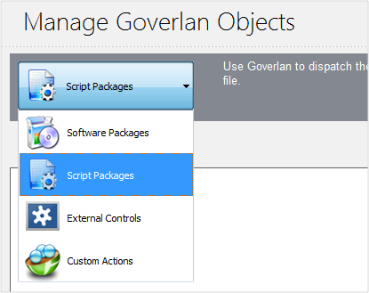 Manage Goverlan Objects