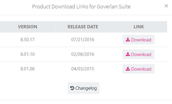 Downloading Goverlan 8.5