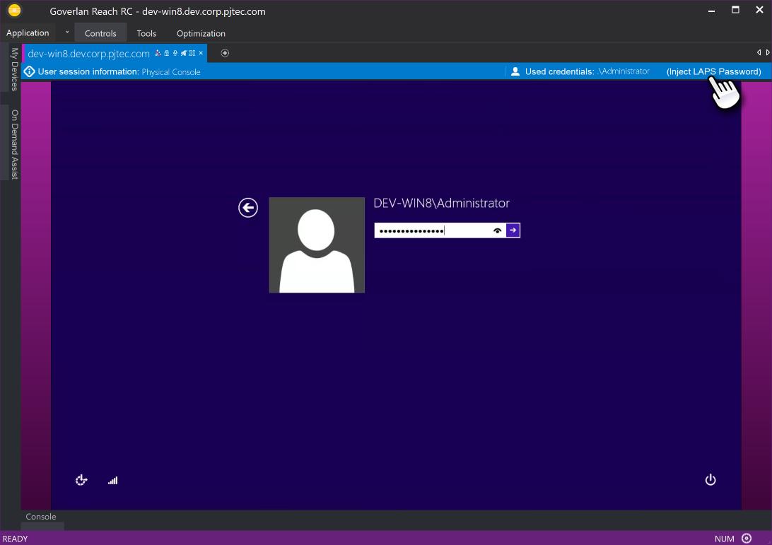 Inject Microsoft LAPS password