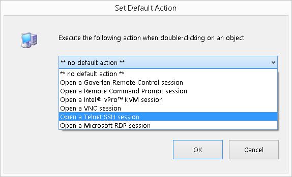 Goverlan Remote Control Favorites Panel