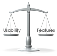 Useability vs Features