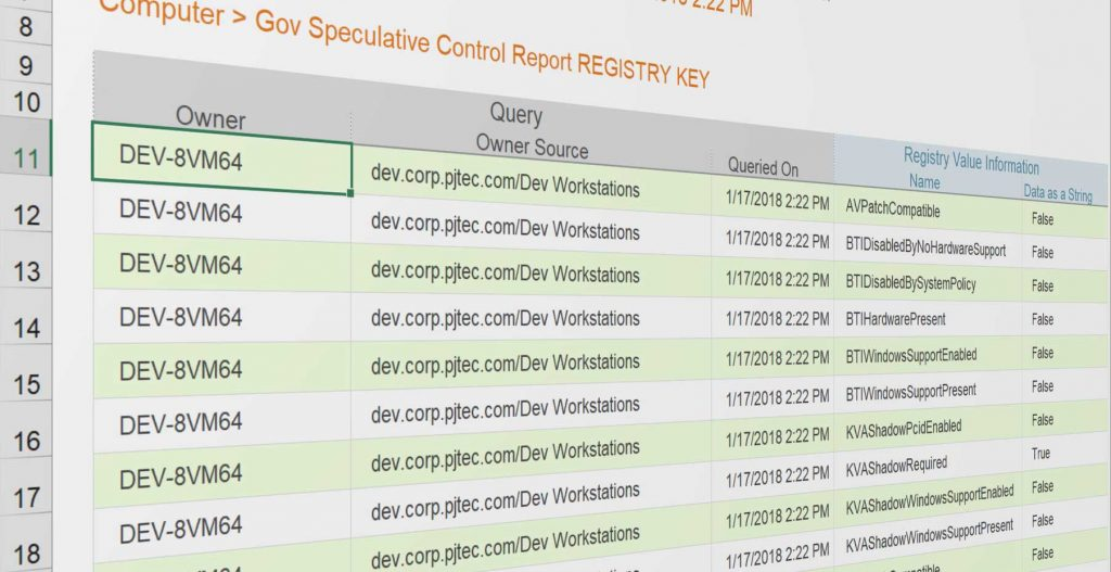 Meltdown Specter Windows Protections Report
