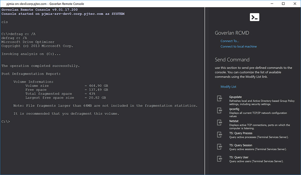 Remote Control Tool: Command Prompt, PowerShell CMD.