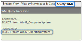 Query WMI window