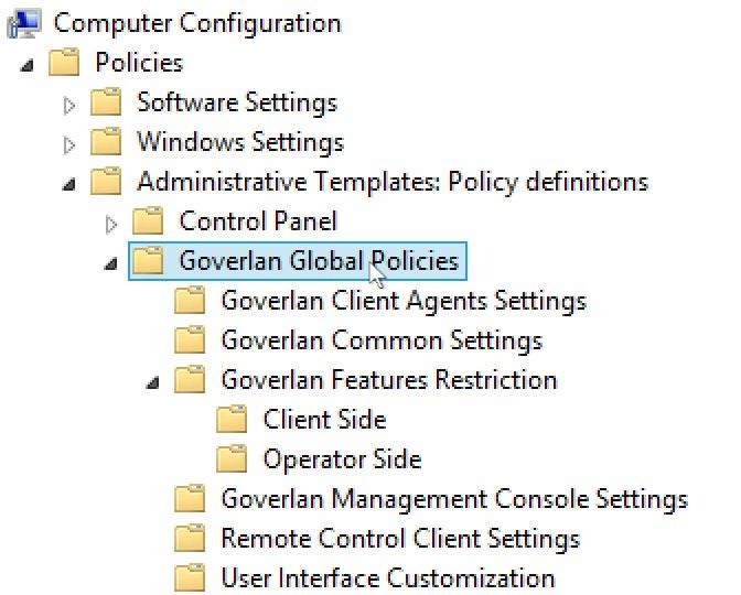 Global Goverlan Configuration via a GPO