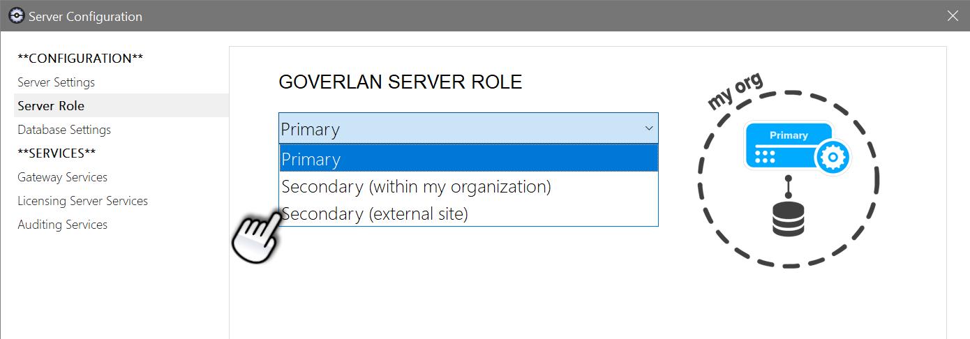 Goverlan Reach Server Roles