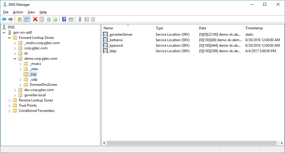 how do you manually create srv records in dns