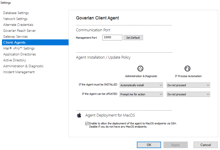 Enable MacOS Agent Deployment
