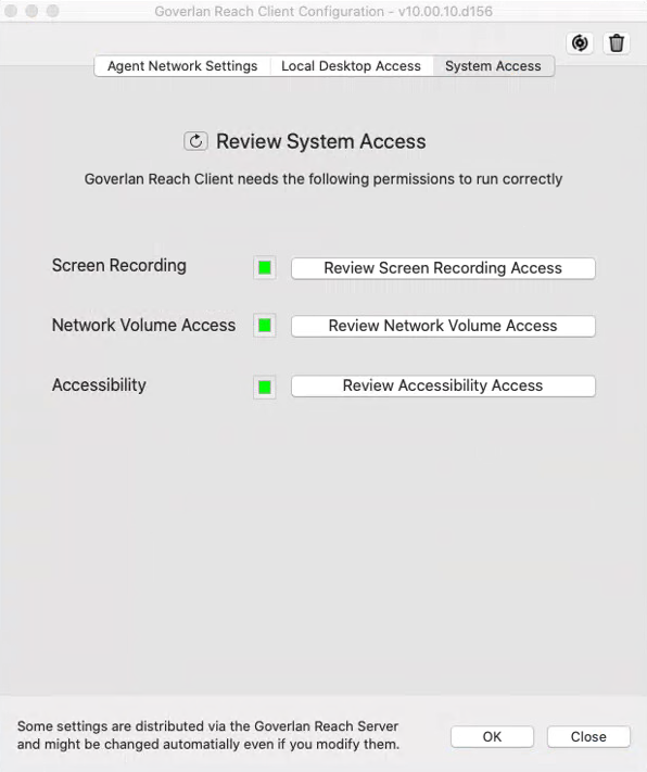 MacOS System Access Permissions