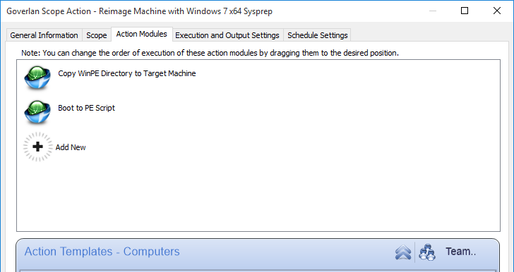 Process Automation: silently re-image a live Windows machine