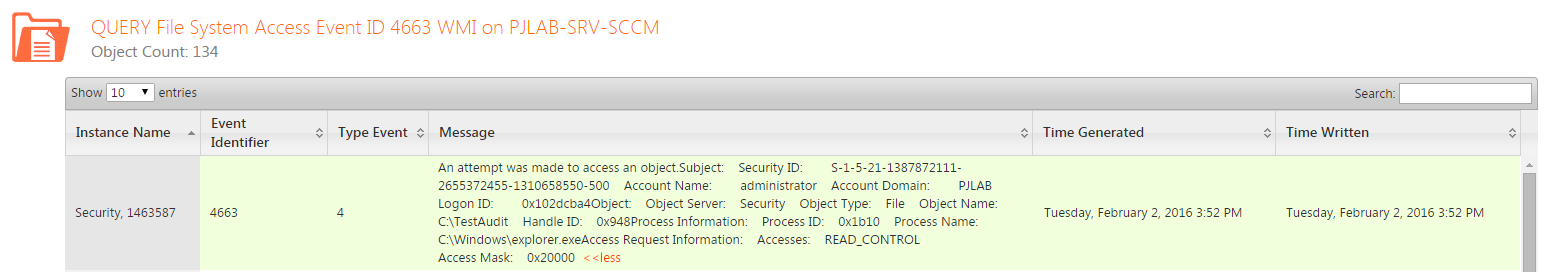Process Automation - Windows Event Log Reporting