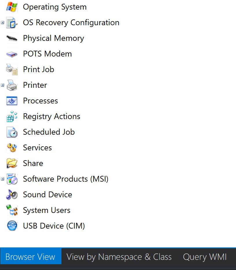 WMI Explorer: Managing a Remote Machine