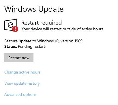 Shutdown & Restart With Updates
